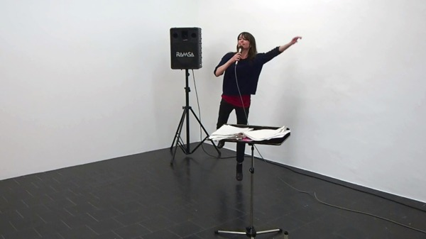 Performance 'World Wah!', Temporary Gallery, Cologne, 2015