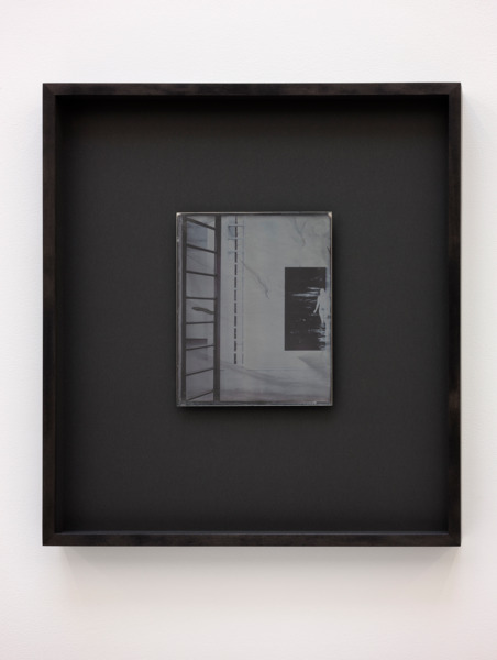 Recursive Plates (Jim Lambie, Shaved Ice, 2012 / Anne Collier, Negative (California), 2013), 2015, Daguerreotype on silver-plated copper (Unique), 24 x 19 cm image size, 55.5 x 49 cm framed