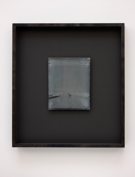 Recursive Plates (Mark Handforth, The Excentric Circle, 2015 / Alex Dordoy, Dude the Obscure, 2015 / Mark Handforth, Untitled, (Toby), 2015), 2015, Daguerreotype on silver-plated copper (Unique), 24 x 19 cm image size, 55.5 x 49 cm framed