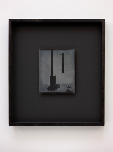 Recursive Plates (Martino Gamper, Firelit, 2013 / Michael Wilkinson, Colonna, 2012), 2015, Daguerreotype on silver-plated copper (Unique), 24 x 19 cm image size, 55.5 x 49 cm framed