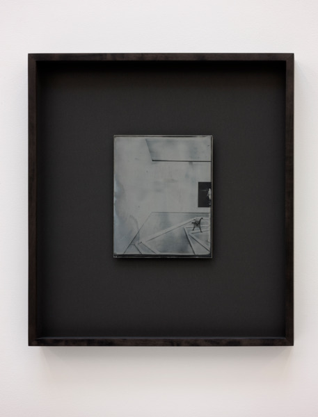 Recursive Plates (Mark Handforth, The Excentric Circle, 2015 / Alex Dordoy, Dude the Obscure, 2015 / Anne Collier, Negative, (California), 2013), 2015, Daguerreotype on silver-plated copper (Unique), 24 x 19 cm image size, 55.5 x 49 cm framed