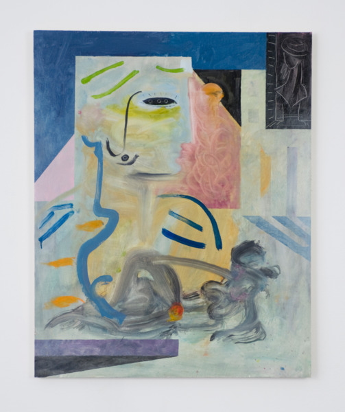 O, 2012, Oil on board, 61 x 76 cm