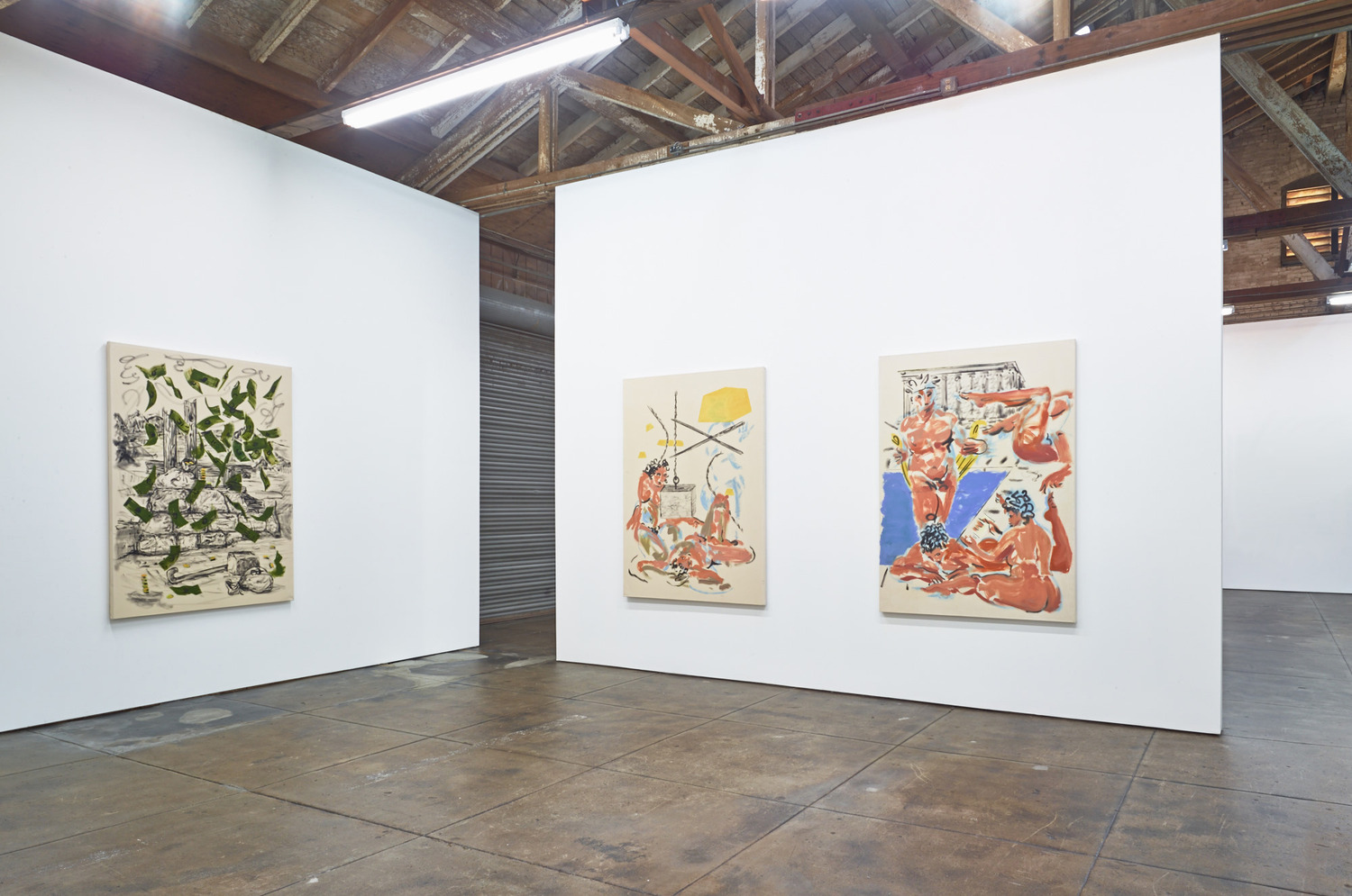 Installation view 'Authentic Spiritual Spray', Ibid, Los Angeles, 2014