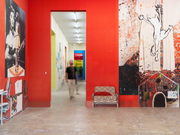 38 E. 1st St., 2014, Plasterboard and, wallpaper installation, Dimensions variable, Installation view 'Burning Down the House', 10th Gwangju Biennale, Gwangju, 2014