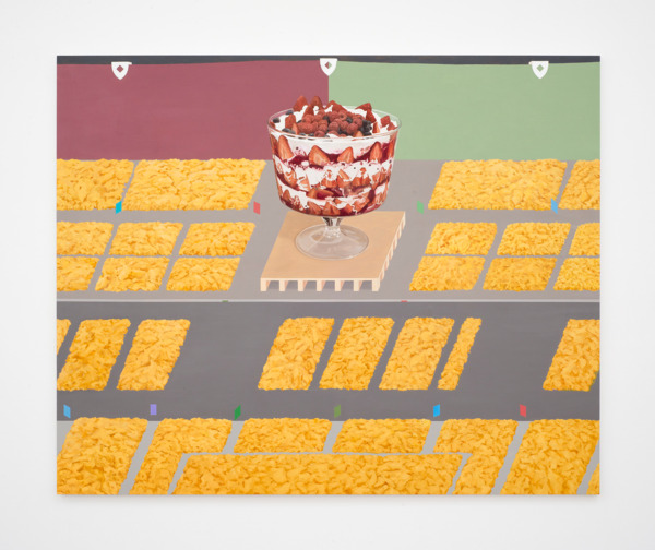The Scrambled Eggs Salute The Trifle, 2016, Oil on canvas, 206 x 254 x 4.5 cm