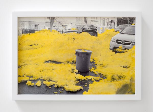 Snoweggs b., 2016, Handcoloured archival pigment print, 33.5 x 48.5 x 3.5 cm