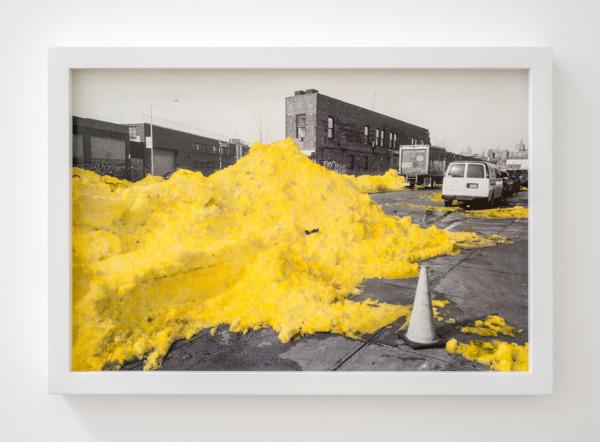Snoweggs a., 2016, Handcoloured archival pigment print, 33.5 x 48.5 x 3.5 cm