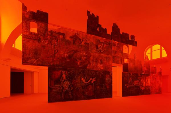 Installation view 'Das Blut, im fruchtfleisch gerinnend beim birnenbiss', Kestnergesellschaft, Hannover, 2016
