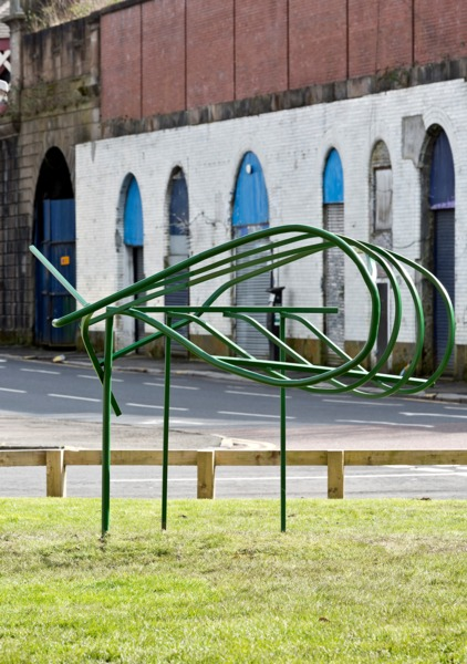 Balustrade, 2016, Painted steel, 170 x 210 x 150 cm