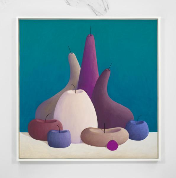 Still Life, 2016, Pastel on canvas, 155 x 155 x 7 cm framed, Installation view 'Three Cats', The Modern Institute, Aird's Lane, Glasgow, 2016