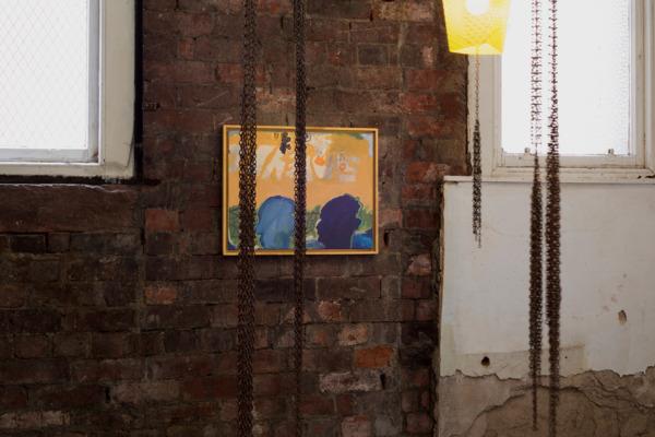 Forward Progress, 2016, Acrylic on canvas, 40.5 x 51 cm, 16 x 20 in, Installation view Walter Price, The Modern Institute, Aird's Lane Brick Space, Glasgow, 2016