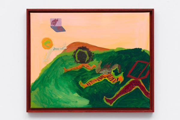 Hue man race, 2016, Acrylic on canvas, 40.5 x 51 cm, 16 x 20 in