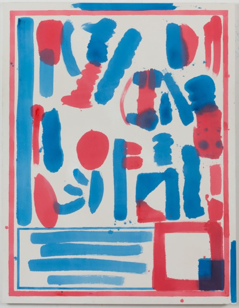 FOOD PLUS DRUG (red / blue), 2012, Acrylic on canvas, 162 x 127 cm, 64 x 50 in
