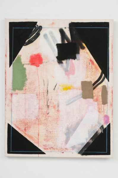 Picture Corners, 2010, Oil, acrylic, colored pencil on canvas, 70.8 x 55.5 cm, 27.87 x 21.87 in