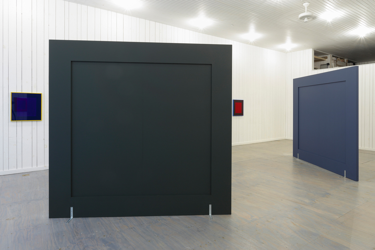 Installation view 'Reverse Telescopes with Inflected Baffles', KARMA, New York, 2013