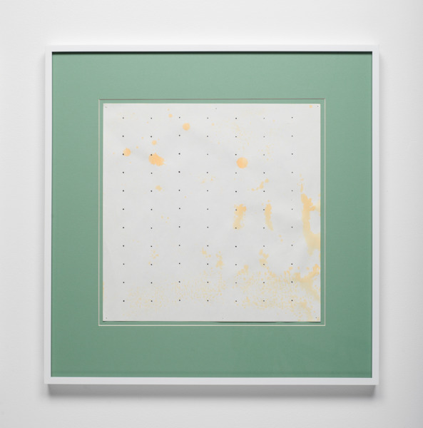 Untitled, 2016, Coloured pencil, acrylic on paper, coloured matboard, artist's frame, 47.1 x 46.4 x 2.5 cm, 18.56 x 18.25 x 1 in