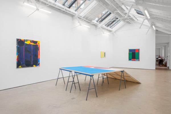 Installation view 'The Flat Voice', The Modern Institute, Osborne Street, Glasgow, 2016