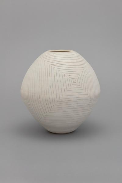 (grid 151), 2016, stoneware, 47 x 24.8 x 24.8 cm , 18.5 x 9.75 x 9.75 in