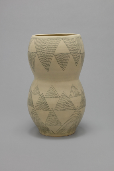 (triangle 35), 2016, stoneware, 47.6 x 27.9 x 27.9 cm, 18.75 x 11 x 11 in