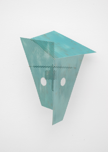 Martin Boyce, A Moment Witnessed by No One, 2013, Painted steel and brass, 39 x 33 x 26.5 cm, 15.4 x 13 x 10.4 in