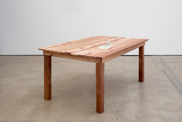 Urs Fischer, Fiction, 2012, Inkjet print on balsa wood, styrofoam, acoustic foam, glue, steel, aluminum, DC motor, rechargeable lithium battery, titanium, archival ink, acid-free paper, stainless steel, acrylic aint, epoxy primer, waterborne base coat, polyurethane clearcoat, coffee stains, 80.4 x 161 x 98.5 cm, 31.7 x 63.4 x 38.8 in, Edition of 2 + 1 AP