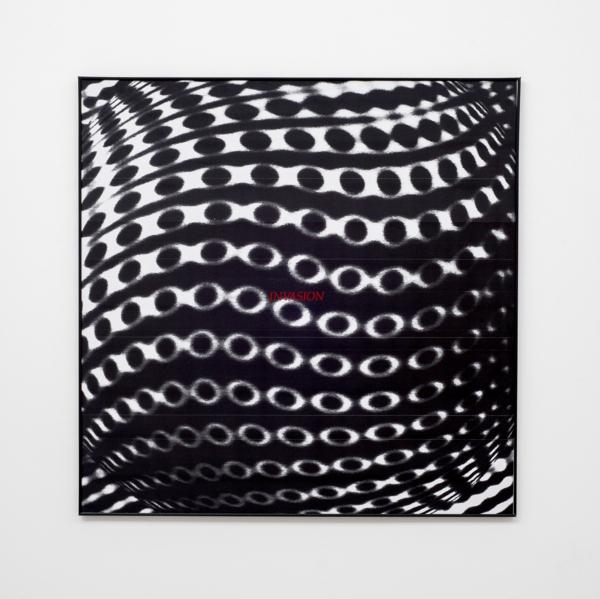 Invasion, 2017, Xerox print, vinyl adhesive, plastic frame, 80 x 80 cm, 31.5 x 31.5 in
