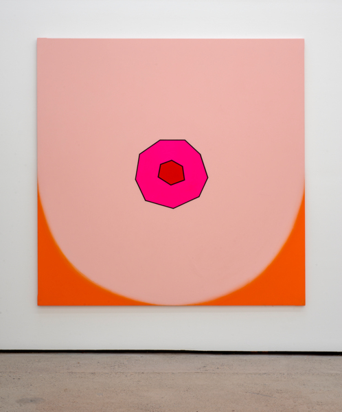 Duggie Fields, BIG TIT, 2004, Acrylic on canvas, 182.9 x 182.9 cm, 72 x 72 in