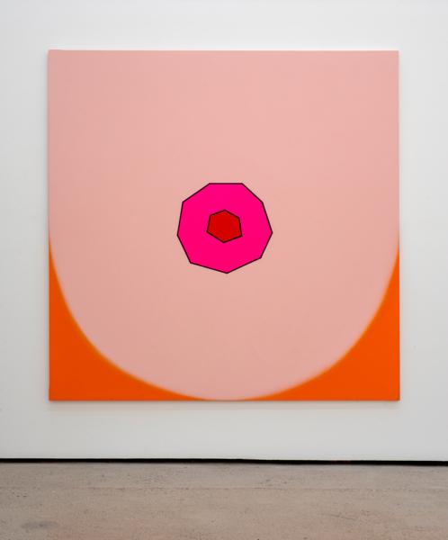 Duggie Fields, BIG TIT, 2004, Acrylic on canvas, 182.9 x 182.9 cm, 72 x 72 in