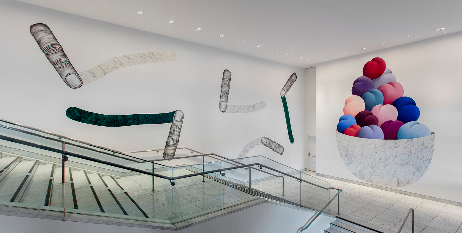 Installation view, 'Hammer Projects: Nicolas Party', Hammer Museum, Los Angeles