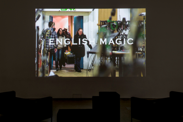 Jeremy Deller, English Magic, 2013, HD Digital video, Duration: 14 min 23 sec, Installation view, Jeremy Deller: Video Works,  MOCA, Cleveland, 2017