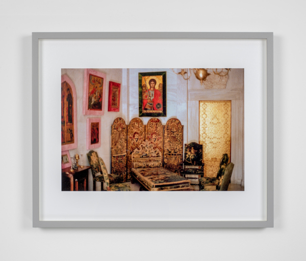William E. Jones, Villa Iolas (Byzantine Icons, Gold Door), 1982/2017,, Hand coated ink jet print,, 42.6 x 53 x 3.7 cm, 16.8 x 20.9 x 1.5 in, Edition of 6