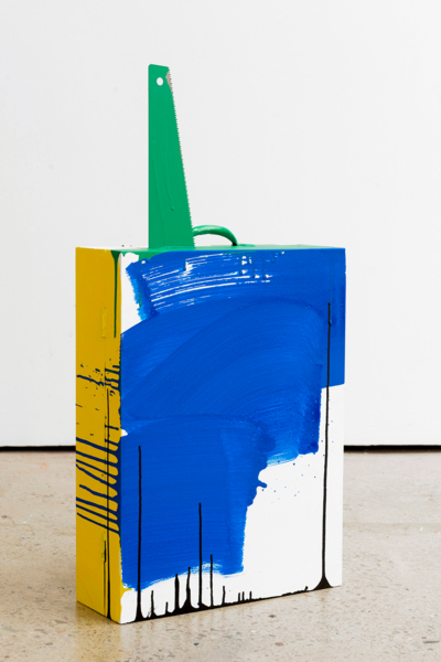 Toolbox, 2017, Ply wood, saw, acrylic paint, 79 x 40 x 13 cm, 31.1 x 15.7 x 5.1 in