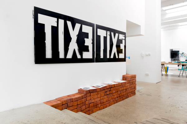 TBD, 2011 - 2017, Unique screen print on acetate (two parts), 92 x 284 cm, 36.2 x 111.8 in, Installation view, The Modern Institute, Aird's Lane, 2017