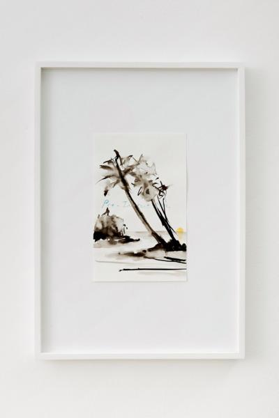 Alex Dordoy, Untitled, 2014, Ink, watercolour, pencil, 41.8 x 29.7 x 2.5 cm, 16.5 x 11.7 x 1 in