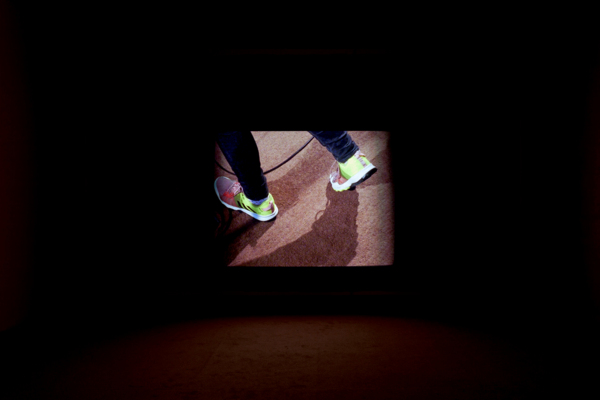 Luke Fowler, Country Grammar (with Sue Tompkins), 2017, installation view, 16mm film transferred to digital, Duration: 18 mins, 29 secs, Edition of 5 + 2 AP