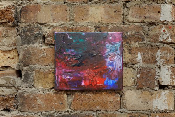 Sue Tompkins, Untitled (Altogethers), 2017, Acrylic paint, PVA glue, glitter, 25 x 30.5 x 2 cm, 9.8 x 12 x .8 in