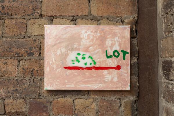 Sue Tompkins, Untitled (Altogethers), 2017, Acrylic paint, glitter paint, PVA glue, glitter, enamel, 30.5 x 40.5 x 2.3 cm, 12 x 15.9 x .9 in
