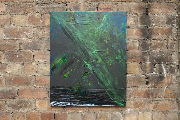 Sue Tompkins, Untitled (Altogethers), 2017, Acrylic paint, glitter, PVA glue, oil paint, 76 x 61 x 2 cm, 29.9 x 24 x .8 in