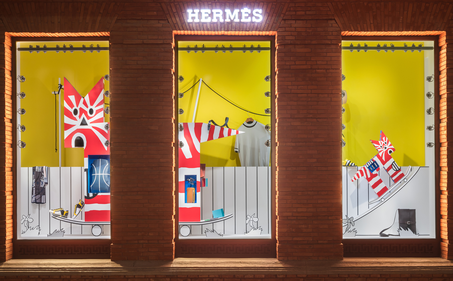 'The abstraction of doing into labour', Summer Windows Project, Hermès Maison Shanghai (8 June - 8 September 2018).