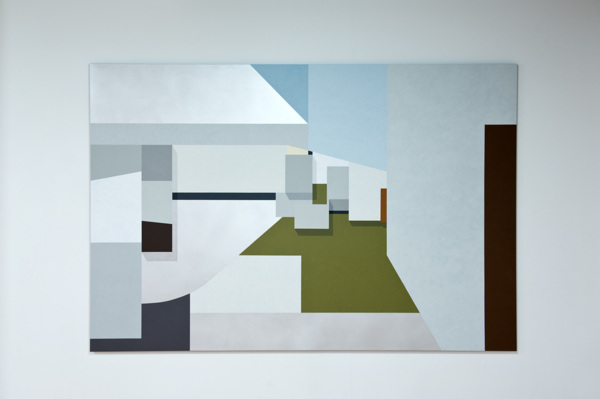 Toby Paterson,Total Environment (SW III), 2012, Acrylic on aluminium, 225 x 150 cm