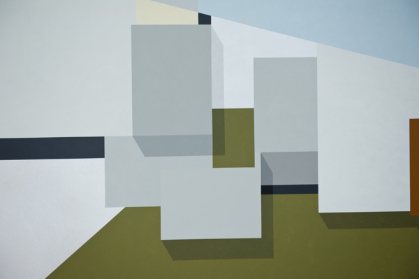 Toby Paterson, Total Environment (SW III) (detail), 2012, Acrylic on aluminium, 225 x 150 cm