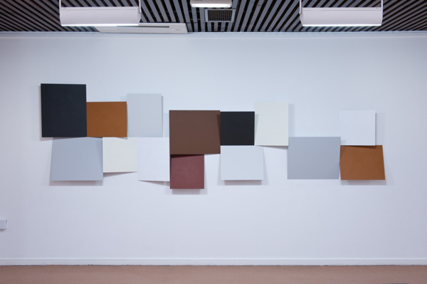 Toby Paterson, Cluster Relief (Peterlee), 2012, Acrylic on aluminium, 120 x 400 cm, 47.2 x 157.5 in