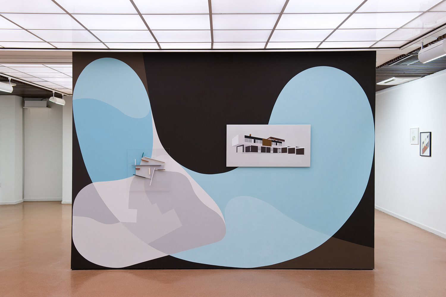 Installation view, 'An Experiment for Total Environment', Durham Art Gallery, Durham (Solo, 29/11/2012—03/2013, with works by Victor Pasmore)