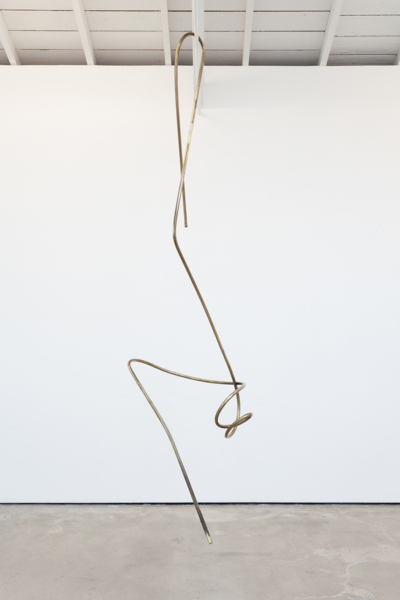 Mark Handforth, Golden Vines, 2018, Brass, 280 x 95 x 75 cm, 110.2 x 37.4 x 29.5 in