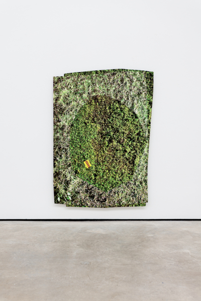 Kim Fisher, Hedge #1, 2018, Aluminium collaged hand printed screen prints, 132.1 x 101.6 x 3.2 cm