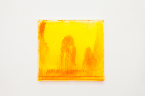 Hayley Tompkins, Digital Light Pool CXXII, 2018, Acrylic paint, plastic tray, 32 x 34.1 x 2.5 cm