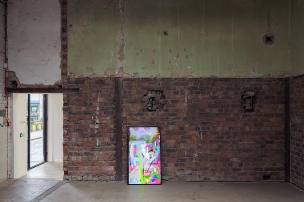 Gregor Wright, Vape Fantasy, 2018, Screen based painting, 15 minute loop, 4K screen, 124.5 x 72 x 12.2 cm