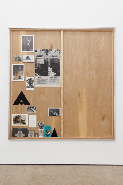 Asymmetry, 2018, Plywood, aluminium frame, paper cuttings, pins, lego, 182.2 x 172.1 x 3.8 cm