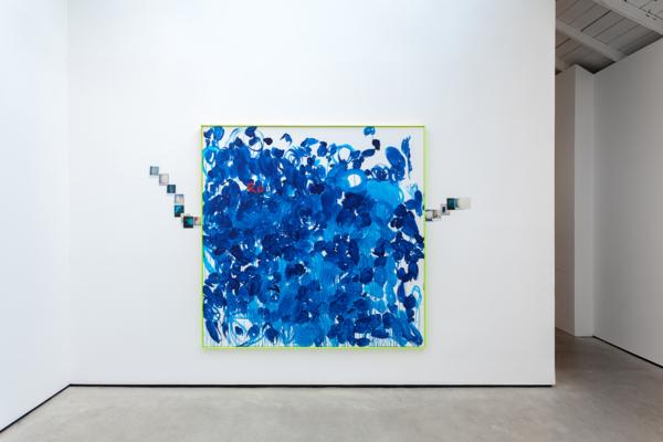 Ra, 2018, Acrylic on canvas, aluminium frame, 201.6 x 201.6 x 4.5 cm