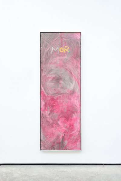 MOR, 2018, Acrylic on canvas, aluminium frame, 159.6 x 55.6 x 4.5 cm
